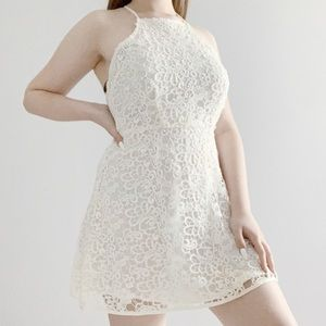 PacSun Kendall and Kylie cream lace backless dress